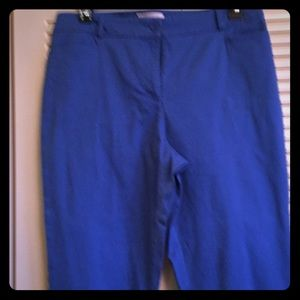 Talbots Woman's 14 Peacock Blue Cropped Pant